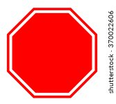 blank red stop sign  vector