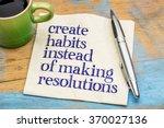 create habits instead of... | Shutterstock . vector #370027136