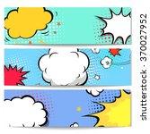 set of comics boom backgrounds   | Shutterstock . vector #370027952