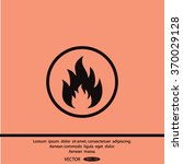 fire  flame fire  flames icons. | Shutterstock .eps vector #370029128