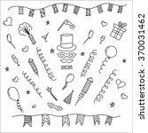 carnival hand drawn symbols... | Shutterstock .eps vector #370031462