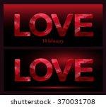 love. valentines day. 14... | Shutterstock .eps vector #370031708