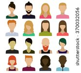 those people.avatars of men and ... | Shutterstock .eps vector #370032056