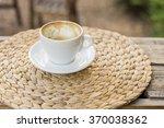 hot cappuccino  | Shutterstock . vector #370038362