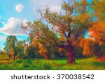 landscape painting showing wild ... | Shutterstock . vector #370038542