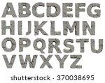 concrete stone alphabet | Shutterstock . vector #370038695