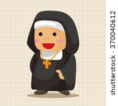 pastor and nun theme elements | Shutterstock .eps vector #370040612