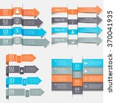 arrows infographics set.... | Shutterstock .eps vector #370041935