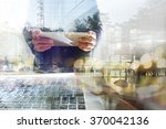 businessman working with tablet.... | Shutterstock . vector #370042136