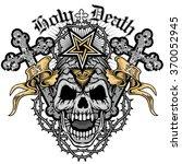 grunge skull coat of arms | Shutterstock .eps vector #370052945