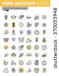 set of modern vector thin line...   Shutterstock .eps vector #370055948