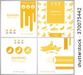banana label set. collection of ... | Shutterstock .eps vector #370075442