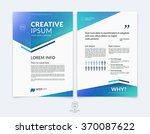 business brochure  flyer and... | Shutterstock .eps vector #370087622