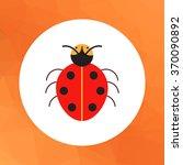 cartoon ladybird icon | Shutterstock .eps vector #370090892