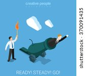 ready steady go for a goal flat ... | Shutterstock .eps vector #370091435