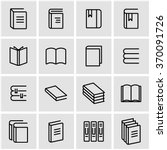Vector Line Book Icon Set. Boo...