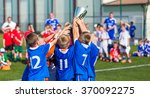 young soccer players holding... | Shutterstock . vector #370092275