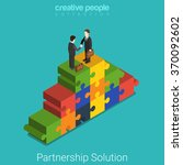 business partnership solution... | Shutterstock .eps vector #370092602