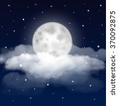 background of night sky with... | Shutterstock .eps vector #370092875