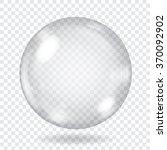 big transparent glass sphere... | Shutterstock .eps vector #370092902