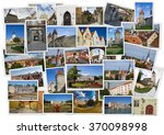 old tallinn in collage with... | Shutterstock . vector #370098998