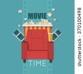 movie time flat design... | Shutterstock .eps vector #370100498