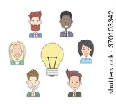 business people group idea... | Shutterstock .eps vector #370103342
