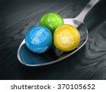 good balanced diet concept  ... | Shutterstock . vector #370105652