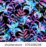Lily Flower Pattern With Double ...