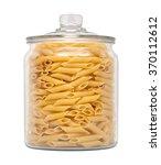 mostaccioli pasta in a glass... | Shutterstock . vector #370112612