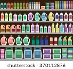 household supplies aisle in the ... | Shutterstock .eps vector #370112876