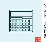 calculator icon logo line flat...