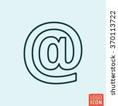 email icon logo line flat...