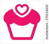 cake icon red | Shutterstock .eps vector #370116632