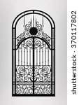 Forged Gate Door Icon. Vector...