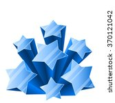3d ice stars burst isolated on... | Shutterstock .eps vector #370121042