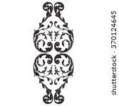 vintage baroque frame scroll...   Shutterstock .eps vector #370124645
