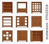 vector set of classic wooden... | Shutterstock .eps vector #370125218