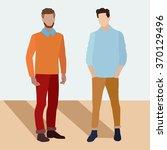 two men  flet  hipster  people... | Shutterstock .eps vector #370129496