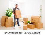 moving to a new apartment.... | Shutterstock . vector #370132505