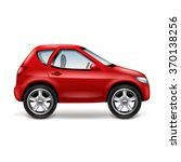 red car profile isolated on... | Shutterstock .eps vector #370138256