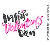 happy valentines day love... | Shutterstock .eps vector #370140416
