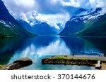 beautiful nature norway natural ... | Shutterstock . vector #370144676