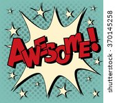 comic speech bubble in pop art... | Shutterstock .eps vector #370145258