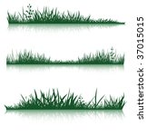 silhouettes of grass with the... | Shutterstock .eps vector #37015015