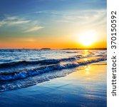 Dramatic Sunset Over A Sea Coast