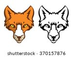vector fox's head as a design... | Shutterstock .eps vector #370157876