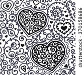 seamless hearts pattern with