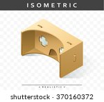 isometric realistic cardboard... | Shutterstock .eps vector #370160372