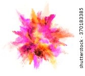 explosion of colored powder ... | Shutterstock . vector #370183385